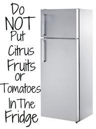 Не слагайте плодове домати зеленчуци в хладилник
