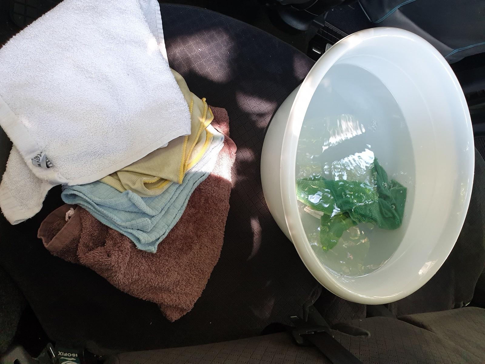 Измиване на препарата и подсушаване
