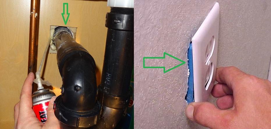 Изолация на дупки между тръби и контакти